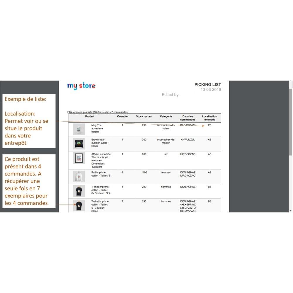 module - Préparation & Expédition - Pickinglist - liste des produits à expédier - 9