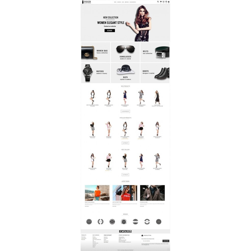 theme - Мода и обувь - Fashion Clothes Store - 2