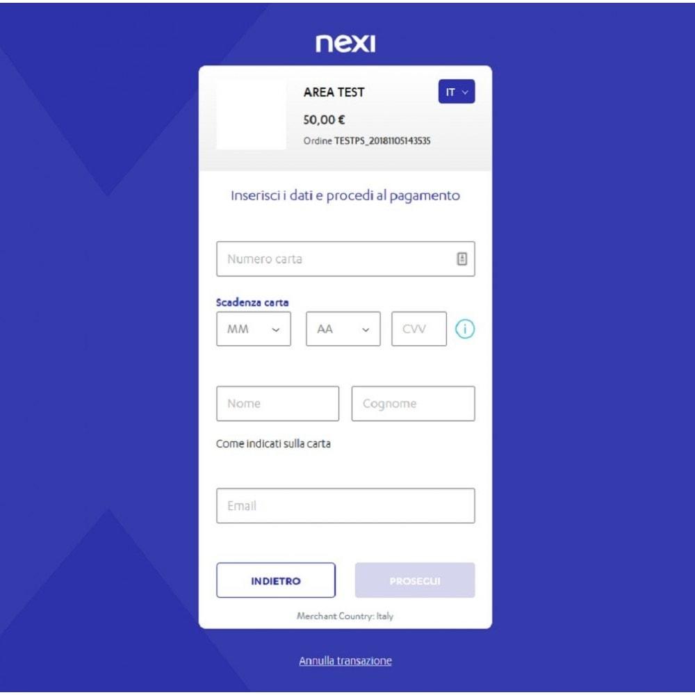 module - Pagamento con Carta di Credito o Wallet - Nexi XPay - 4