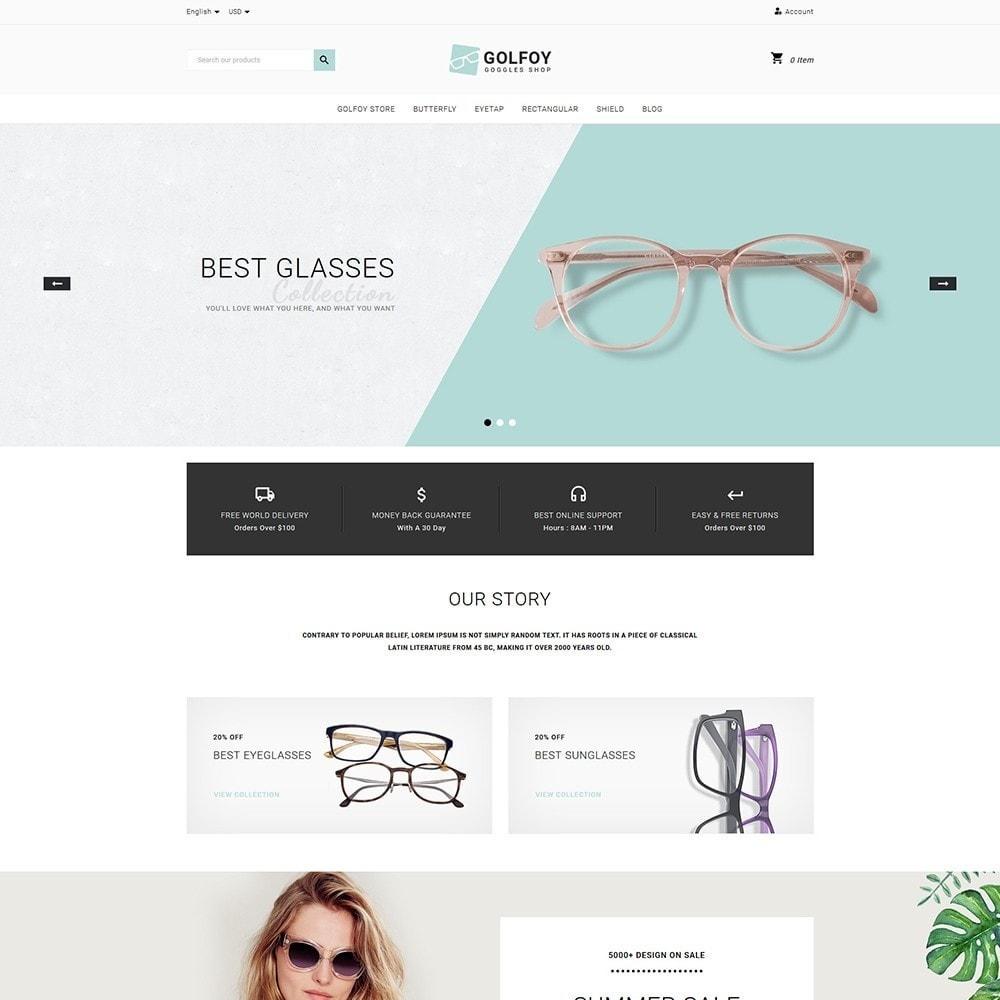 theme - Santé & Beauté - Golfoy EyeGlasses & Goggles Shop - 2