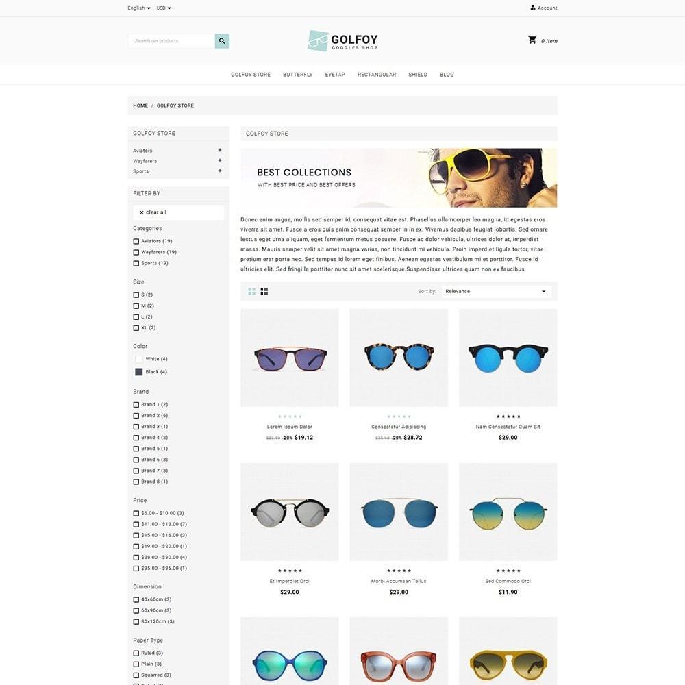 theme - Santé & Beauté - Golfoy EyeGlasses & Goggles Shop - 3
