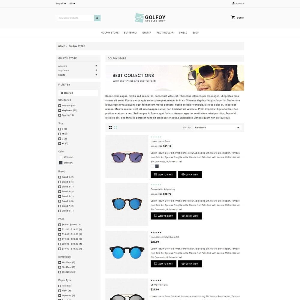 theme - Santé & Beauté - Golfoy EyeGlasses & Goggles Shop - 4