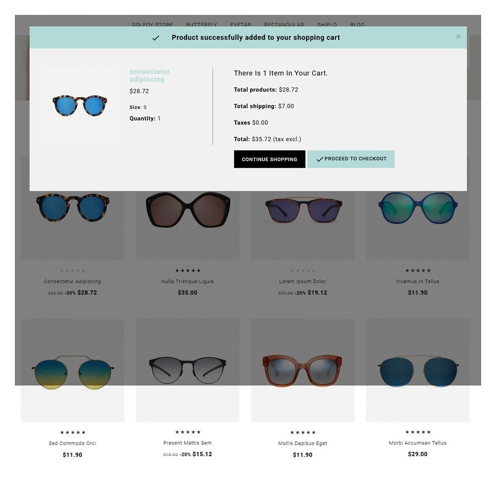 theme - Santé & Beauté - Golfoy EyeGlasses & Goggles Shop - 6