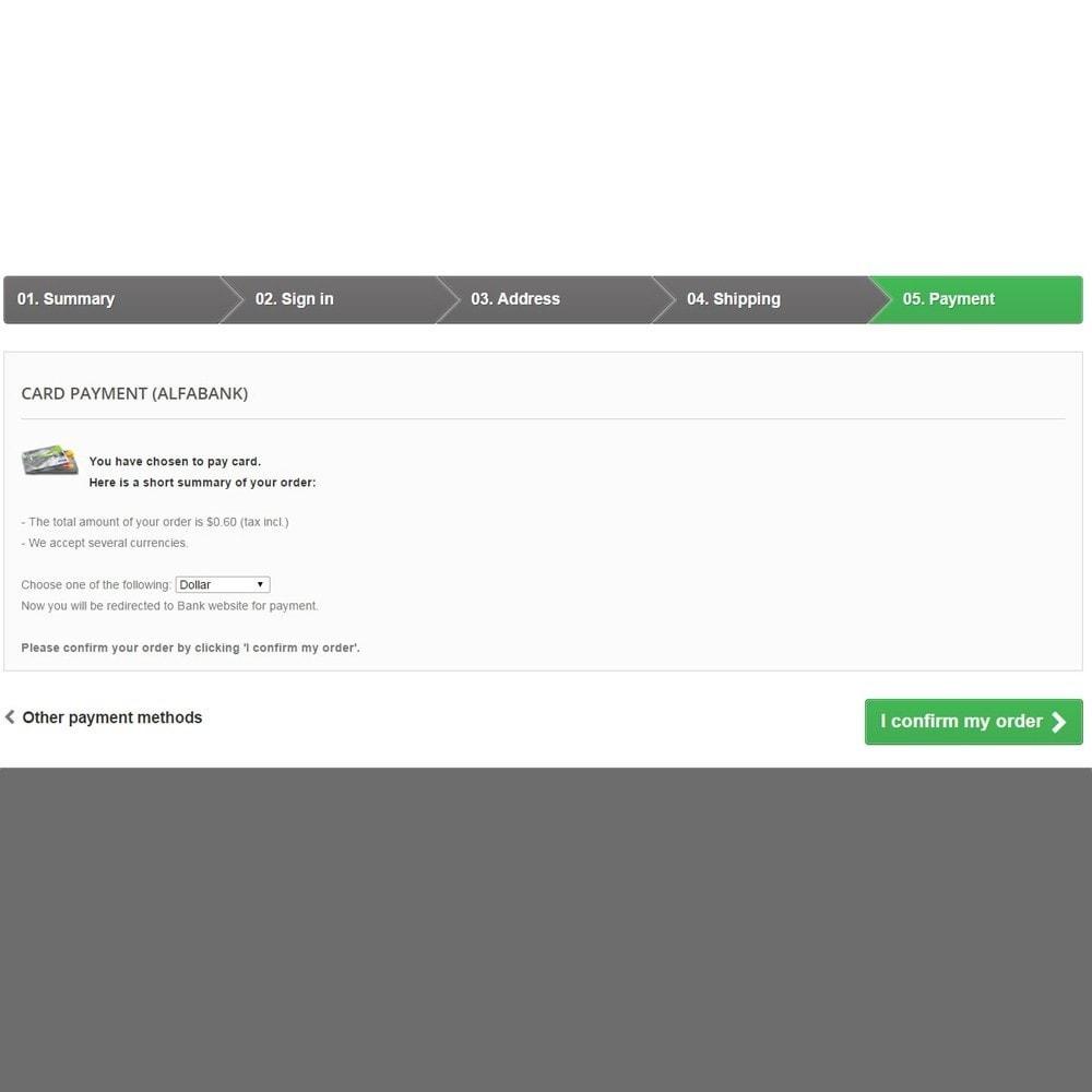 module - Paiement par Carte ou Wallet - Payment method Alfabank Module - 3