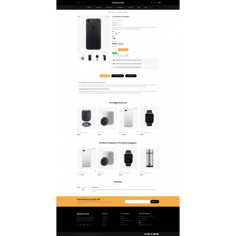 theme - Electronique & High Tech - Mobimax - Online Mobile Store - 5