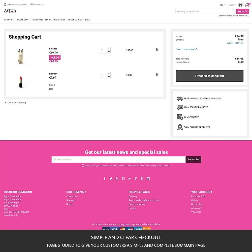 theme - Health & Beauty - Aqua - cosmetics, beauty and perfumes store - 10