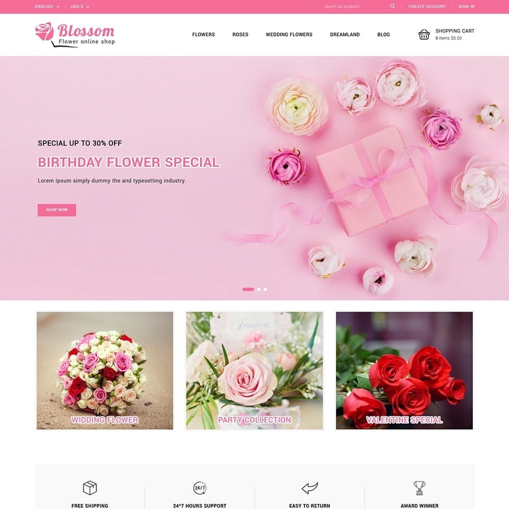 theme - Gifts, Flowers & Celebrations - Blossom Flowers & Gifts Shop - 2