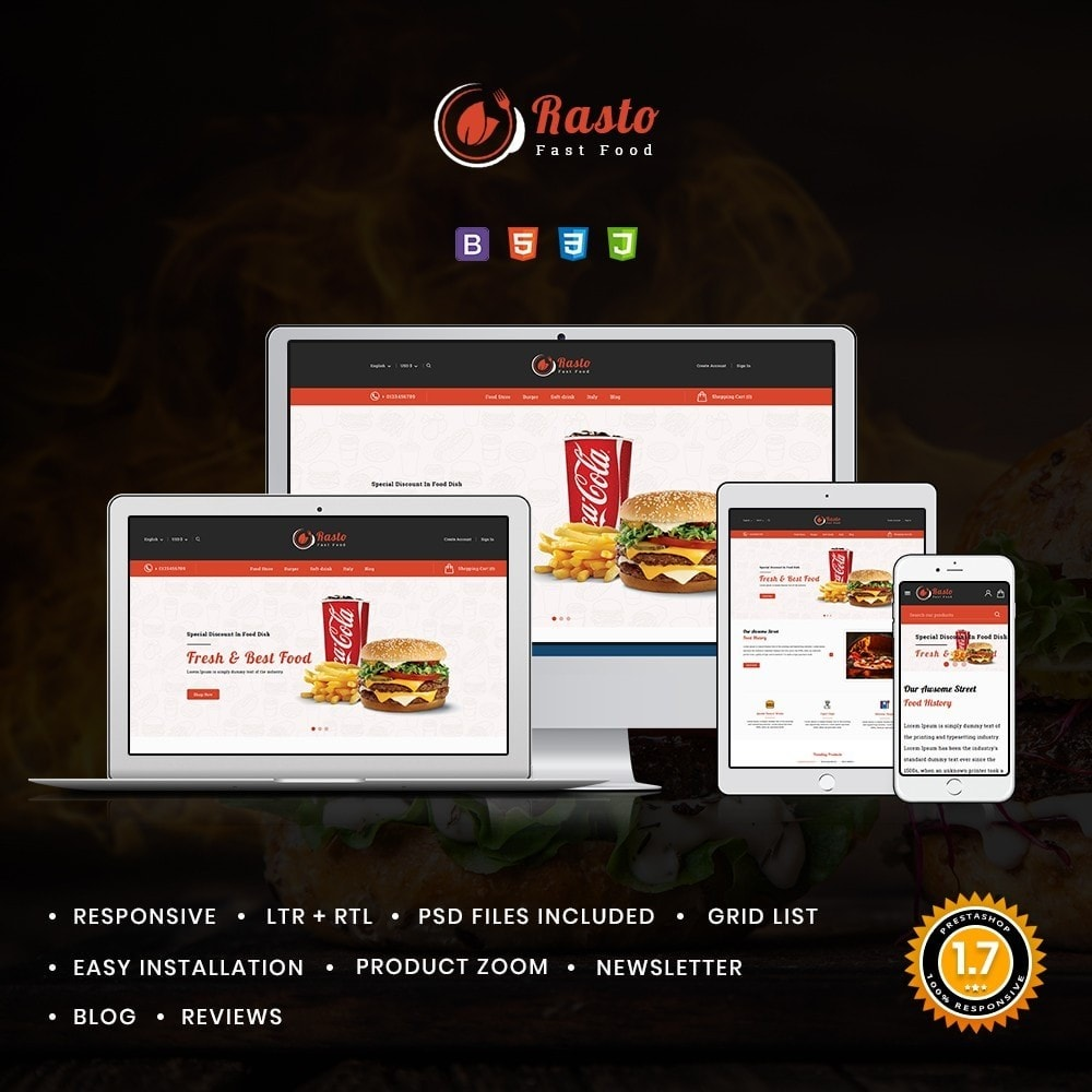 theme - Food & Restaurant - Rasto Food & Restaurant - 1