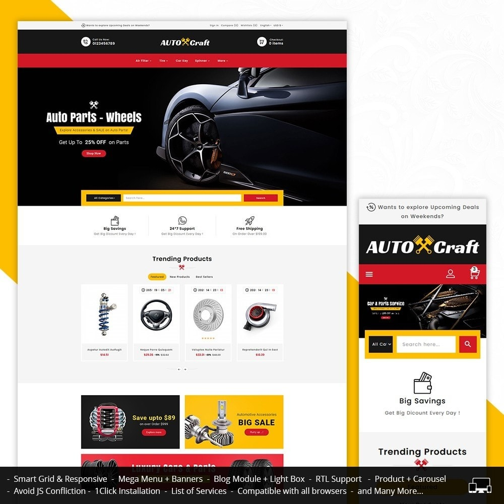 theme - Auto & Moto - Auto Crafts & Parts - 1