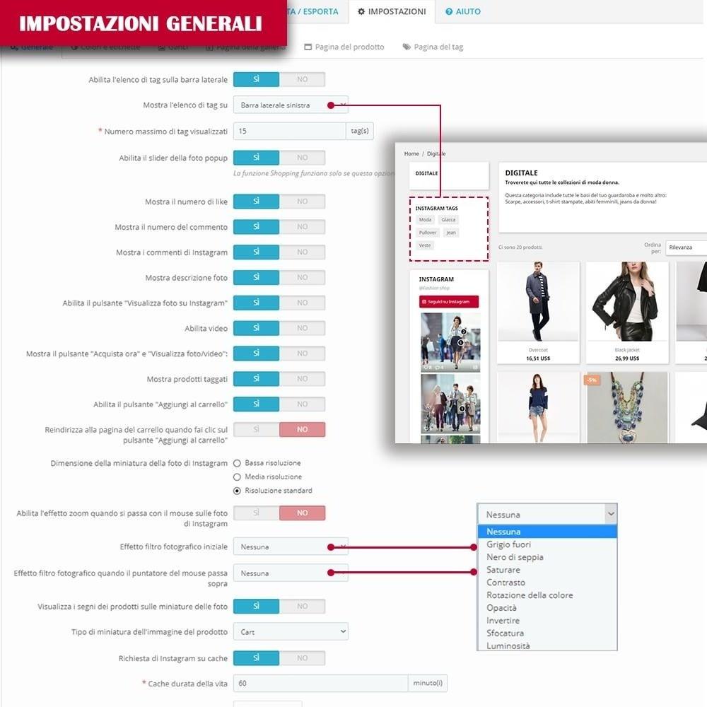 module - Slider & Gallerie - INS Shopping Slider - Integrazione social network - 14