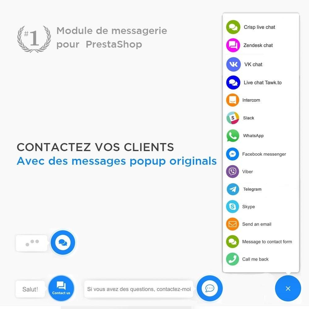 module - Support & Chat Online - Tout-en-Un - Live Chat, WhatsApp, de rappel, Messenger - 2