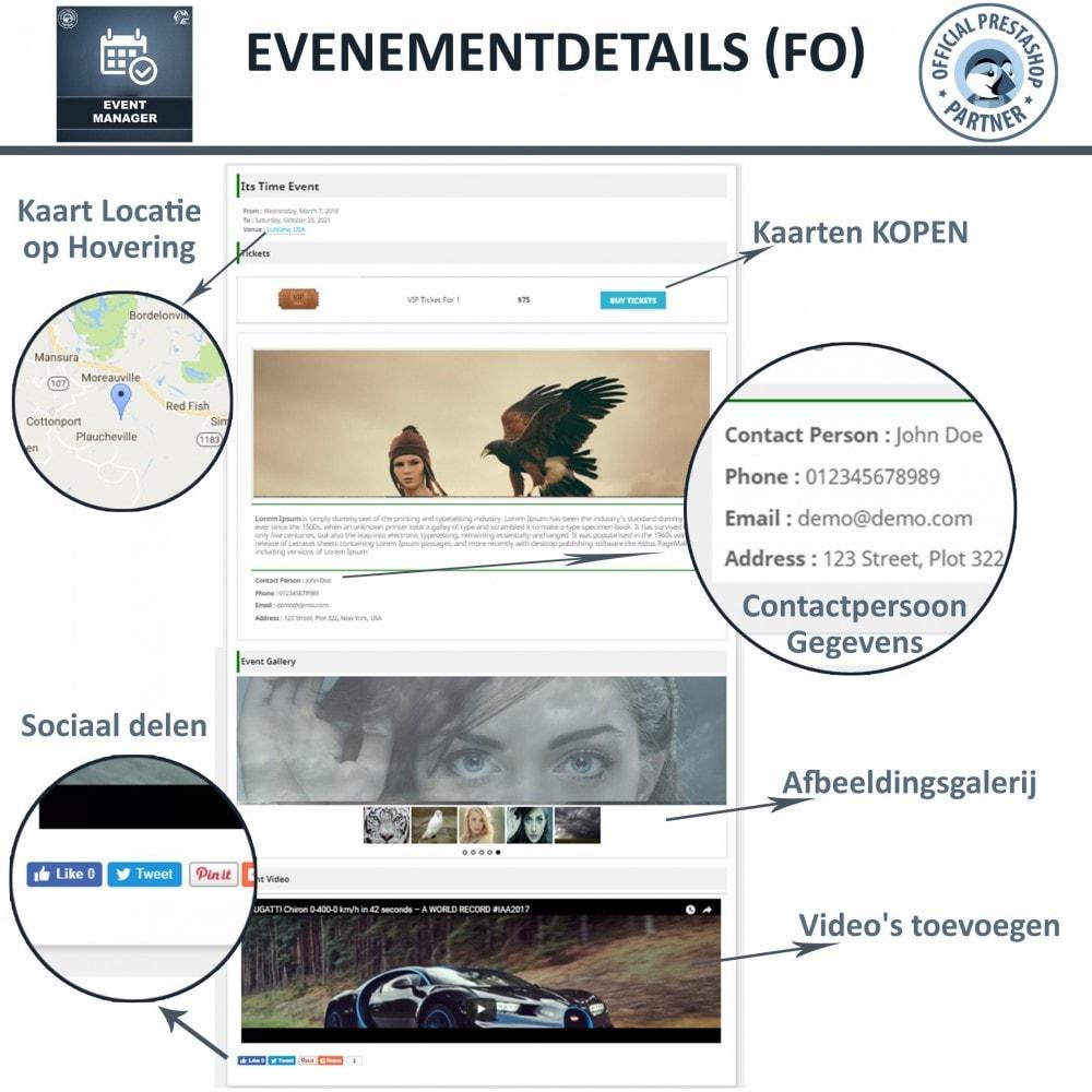 module - Verhuur en reserveringen - Evenementen Manager, Maak Evenementen en Verkoop Ticket - 3