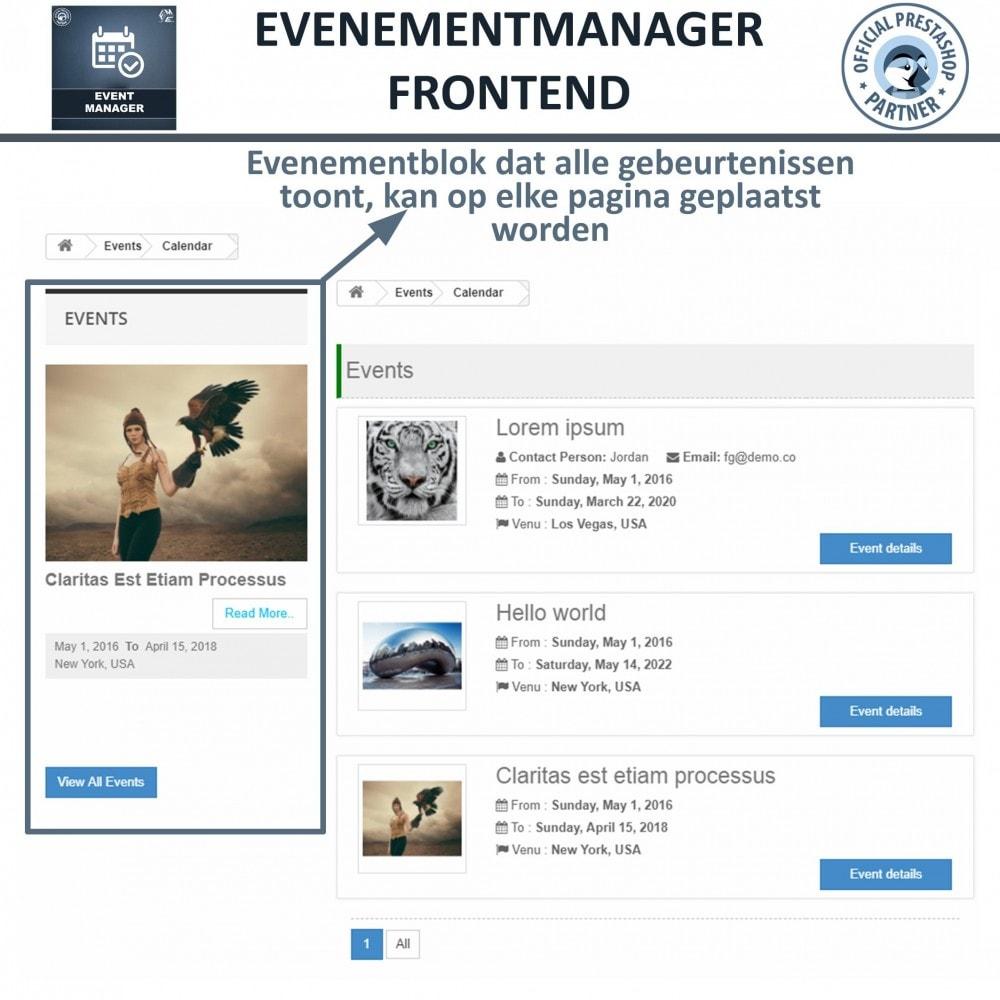 module - Verhuur en reserveringen - Evenementen Manager, Maak Evenementen en Verkoop Ticket - 9