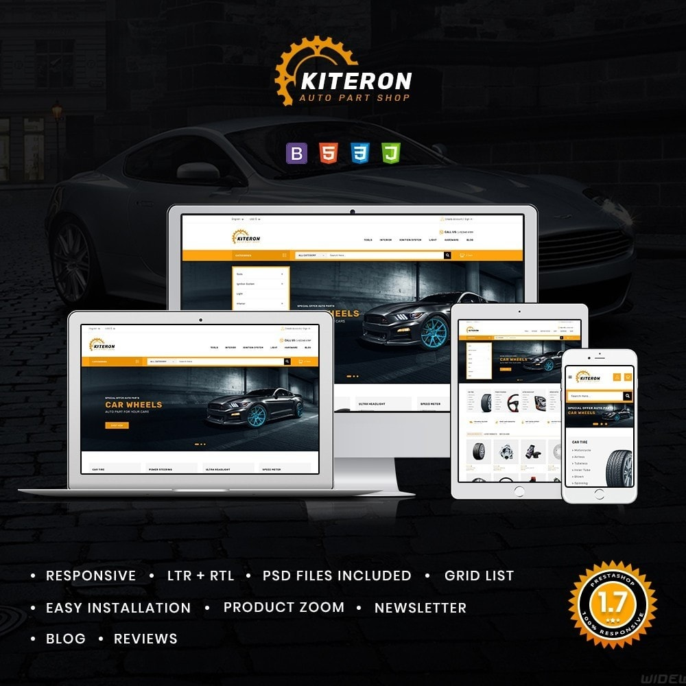 theme - Coches y Motos - Kiteron Automotive & Cars Shop - 1