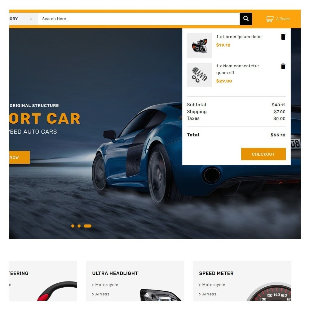 theme - Coches y Motos - Kiteron Automotive & Cars Shop - 7