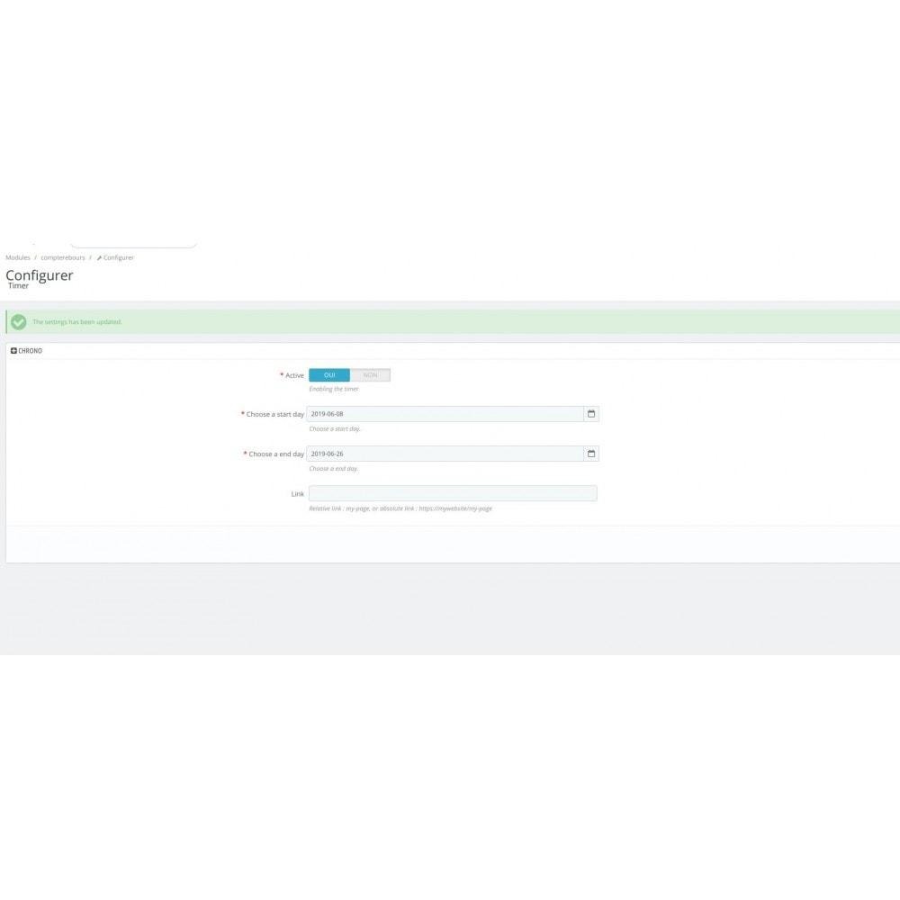 module - Ventes Flash & Ventes Privées - Compte à rebours en page d'accueil - 4