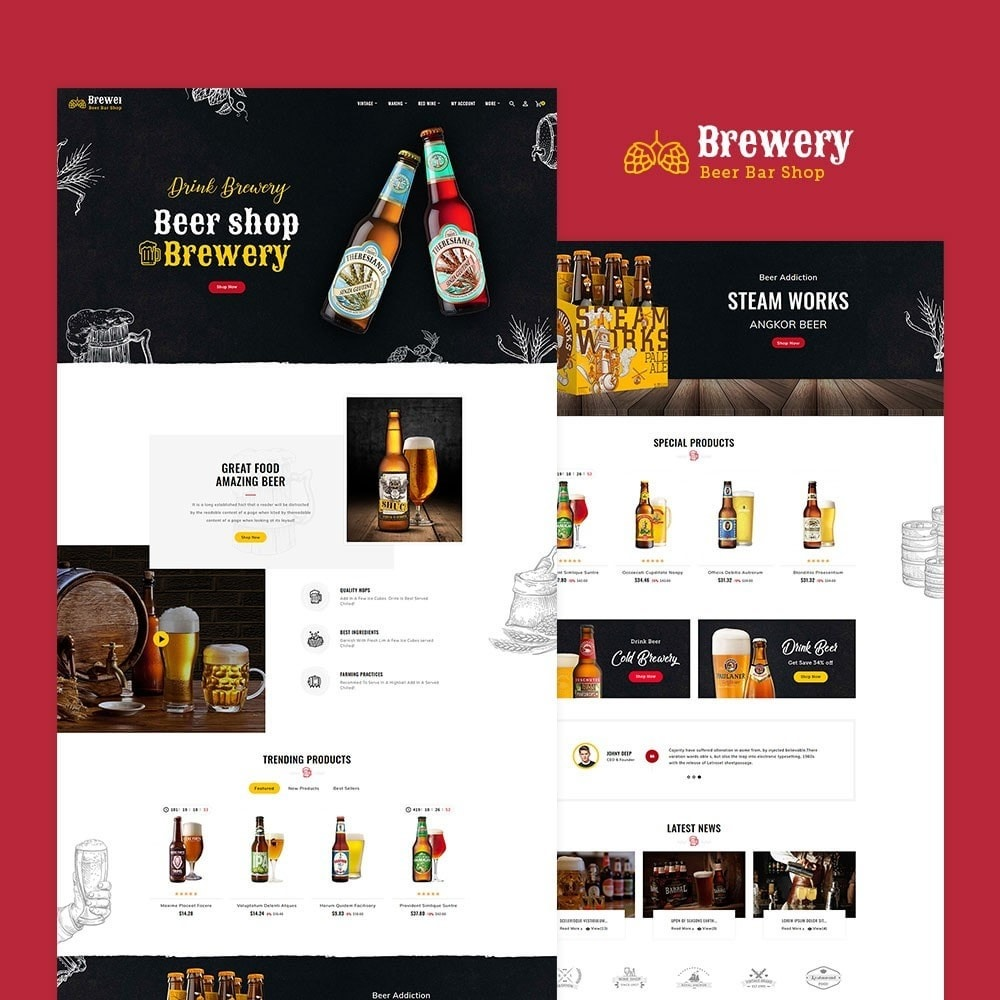 theme - Drink & Wine - Brewery - Beer Bar & Pub - 2