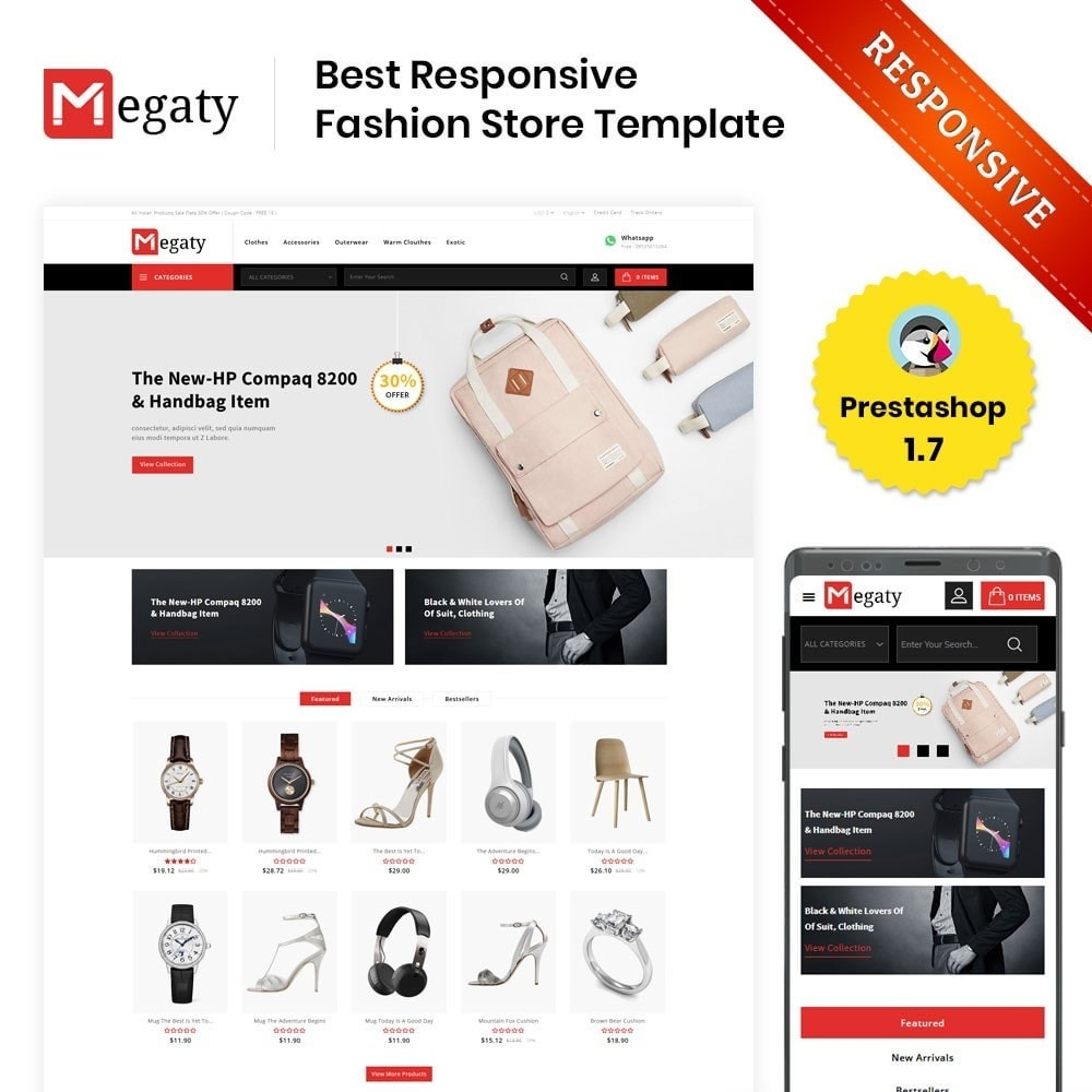 theme - Fashion & Shoes - Megaty - The Mega Shop - 1