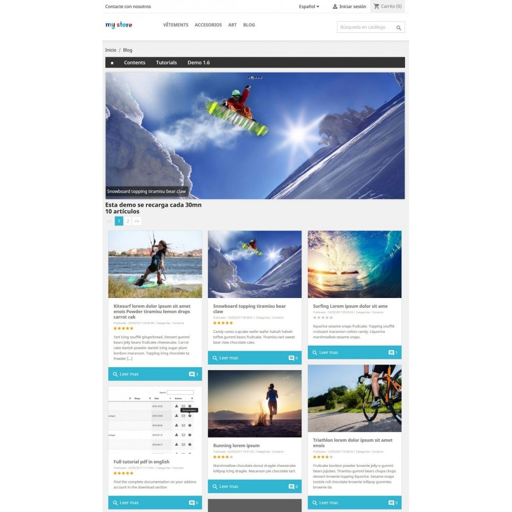 module - Blog, Foro y Noticias - Professional blog - 5