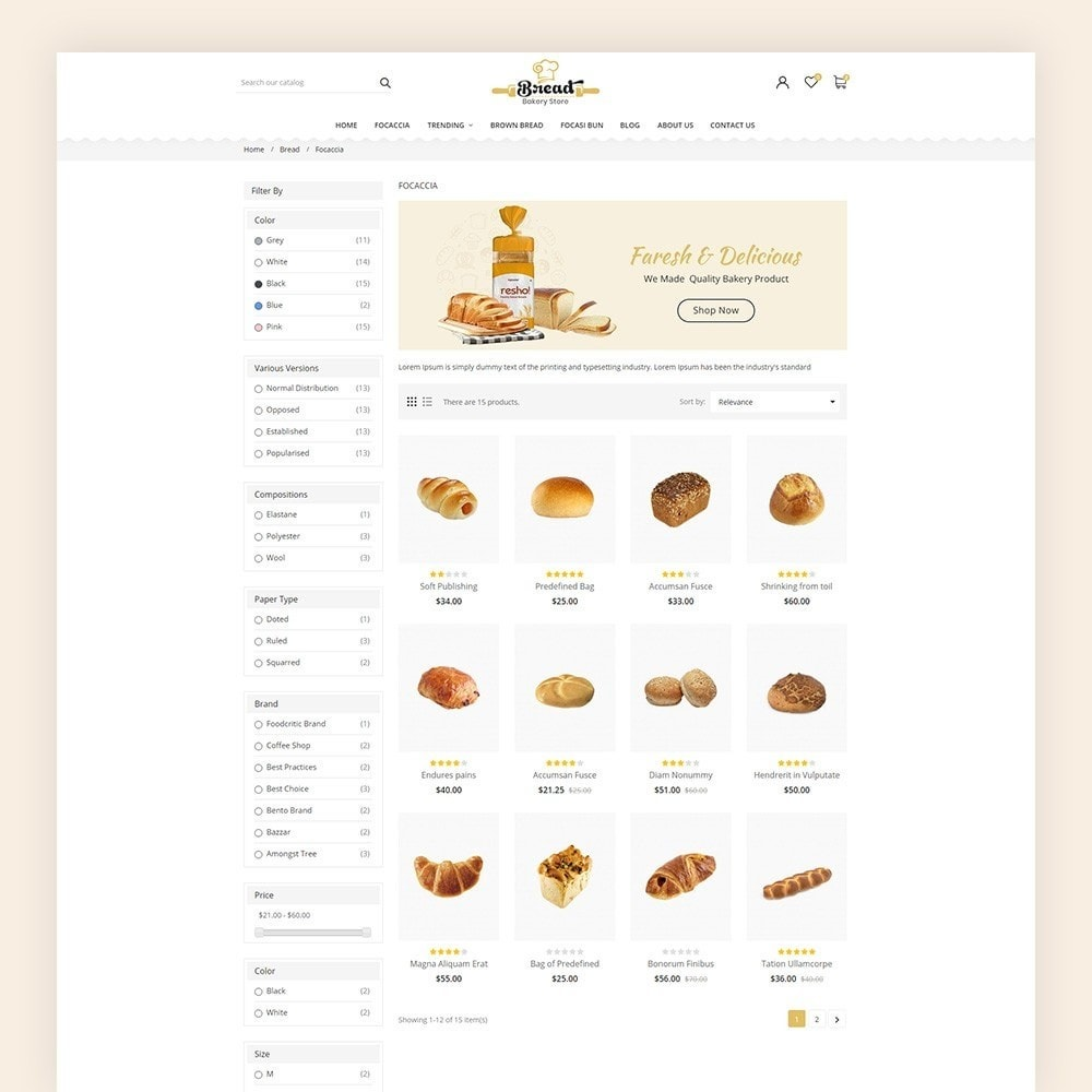 theme - Продовольствие и рестораны - Bread bakery Store - 5