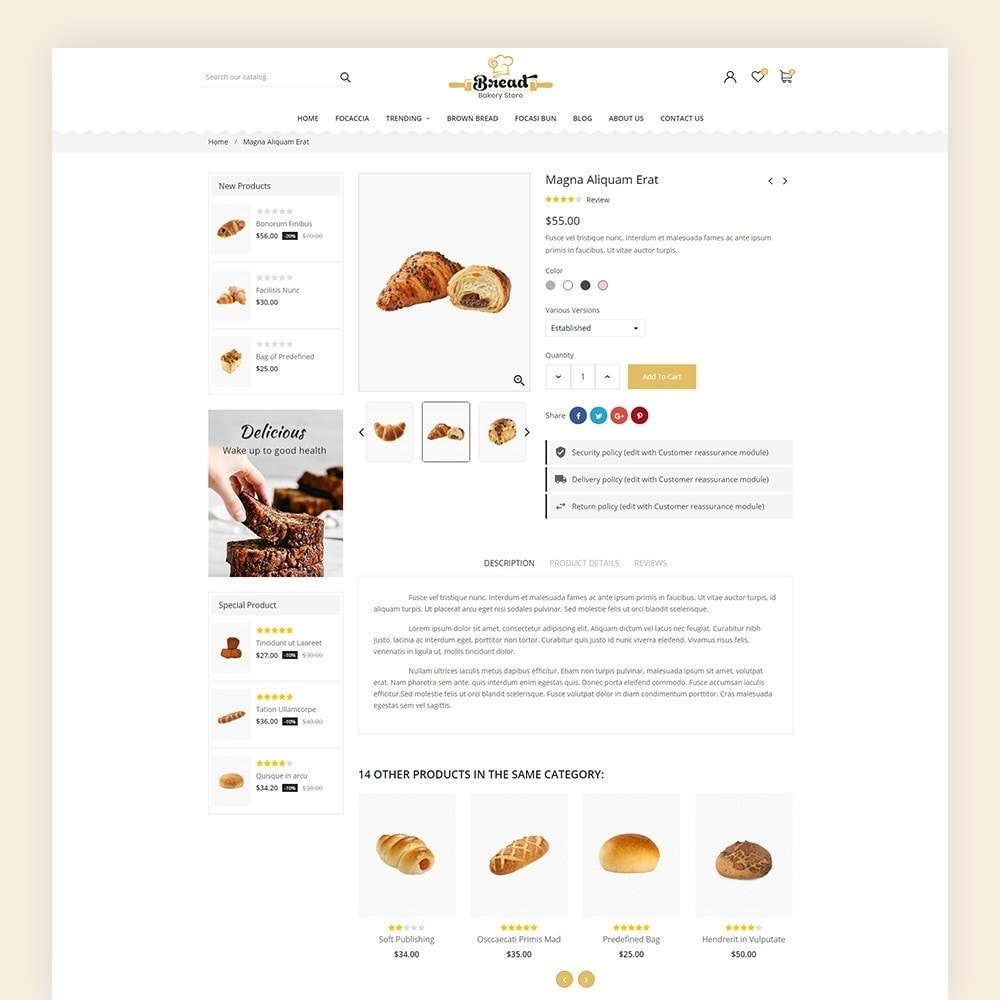 theme - Продовольствие и рестораны - Bread bakery Store - 7