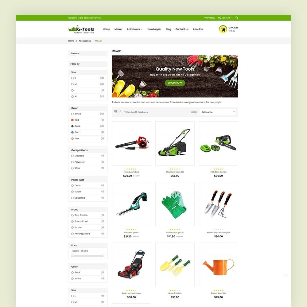 theme - Dom & Ogród - Gtools Garden Tools Store - 5