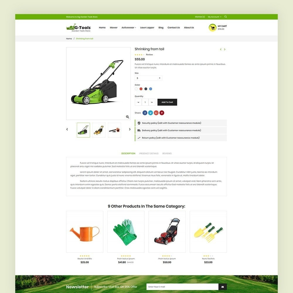 theme - Dom & Ogród - Gtools Garden Tools Store - 7