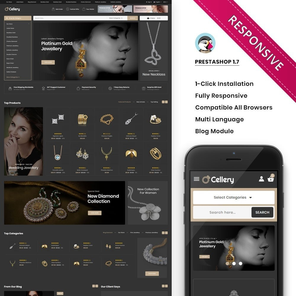 theme - Jewelry & Accessories - Cellery - The Mega Jewellery Store - 1