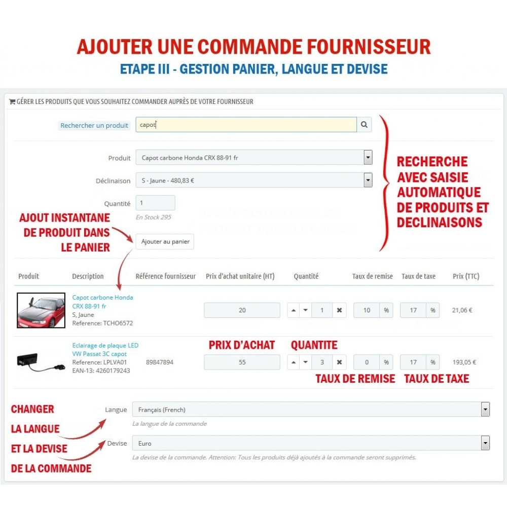 module - Gestion des Commandes - Wk Gestion Commandes Fournisseurs - 4