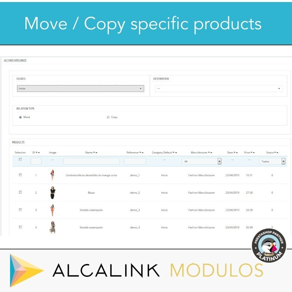 module - Quick Eingabe & Massendatenverwaltung - Copy & Move Products Between Categories - Dropshipping - 3