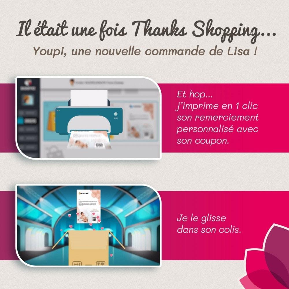 module - Fidélisation & Parrainage - Thanks shopping. Un Merci Efficace dans vos colis - 2