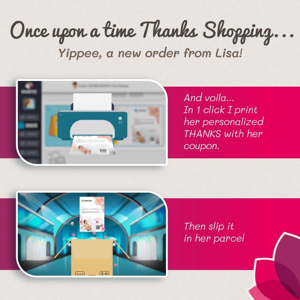 module - Programmi fedeltà & Affiliazione - Thanks Shopping : A THANKS that prints the difference - 2