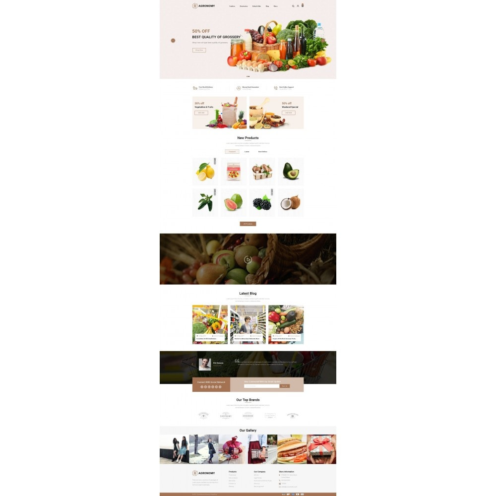 theme - Alimentation & Restauration - Agronomy - Organic Store - 2