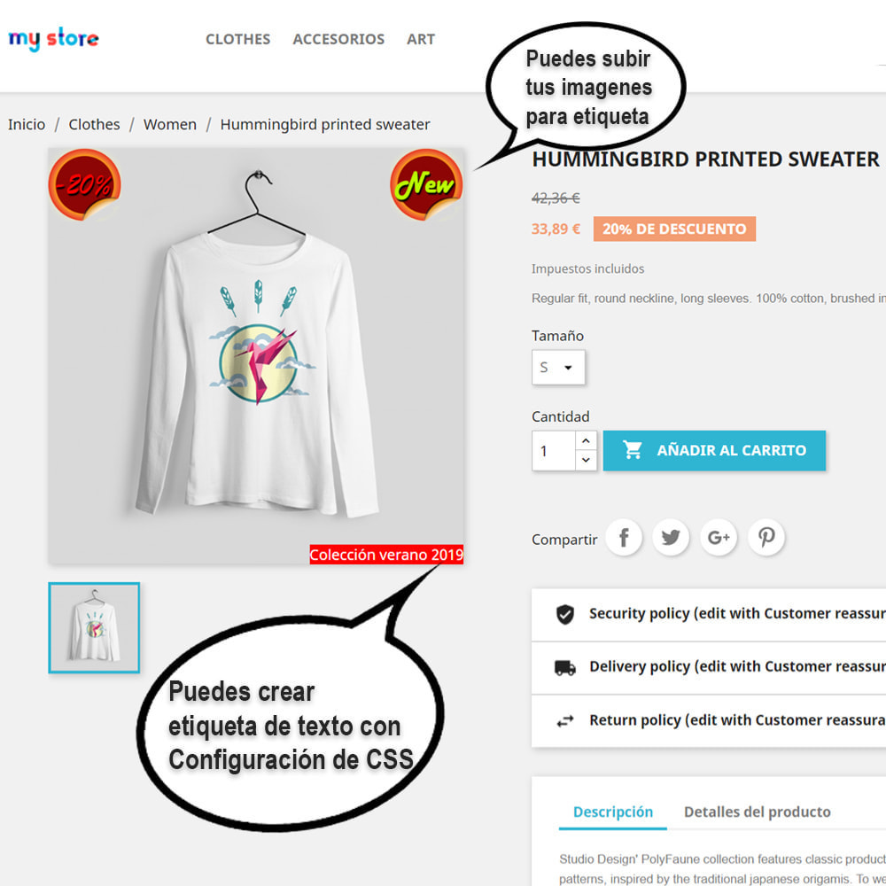 module - Etiquetas y Logos - Pegatinas y etiquetas en los productos - 2