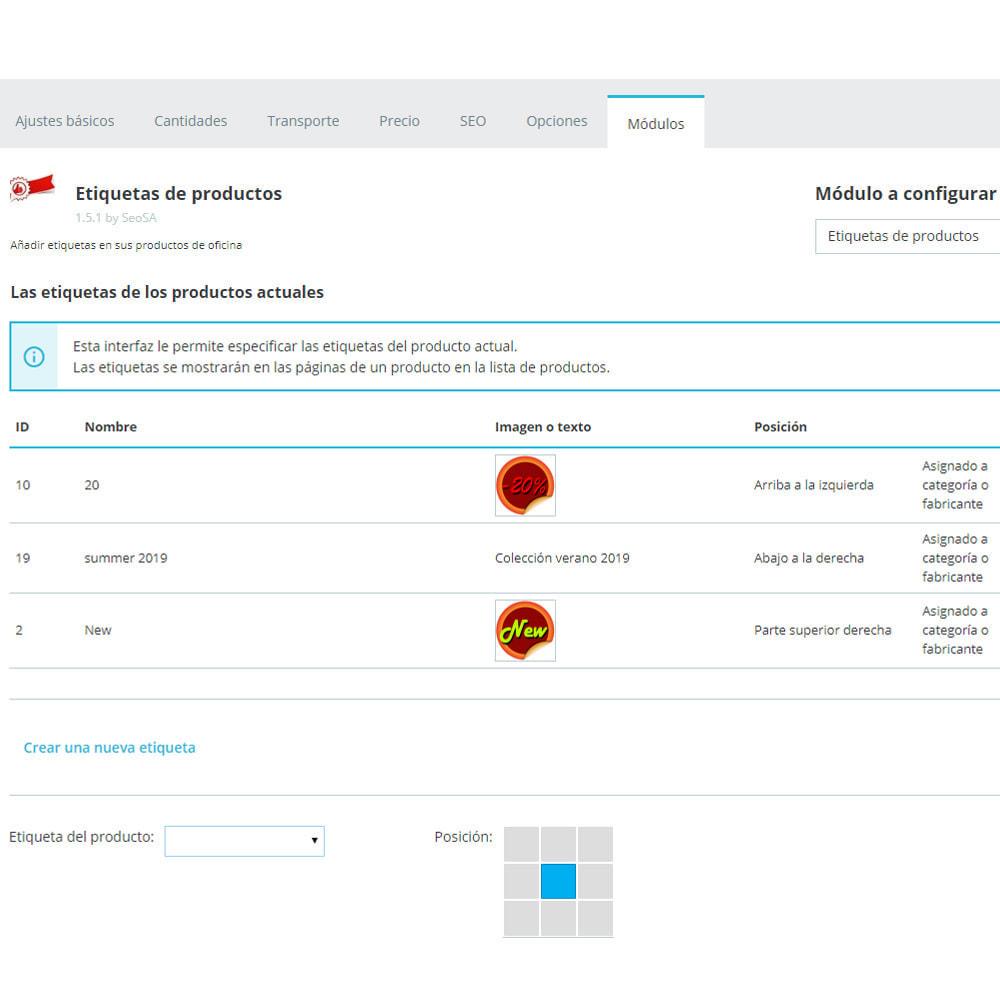 module - Etiquetas y Logos - Pegatinas y etiquetas en los productos - 10