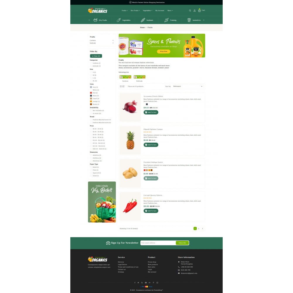 theme - Lebensmittel & Restaurants - Organics - Online Grocery Shop - 4