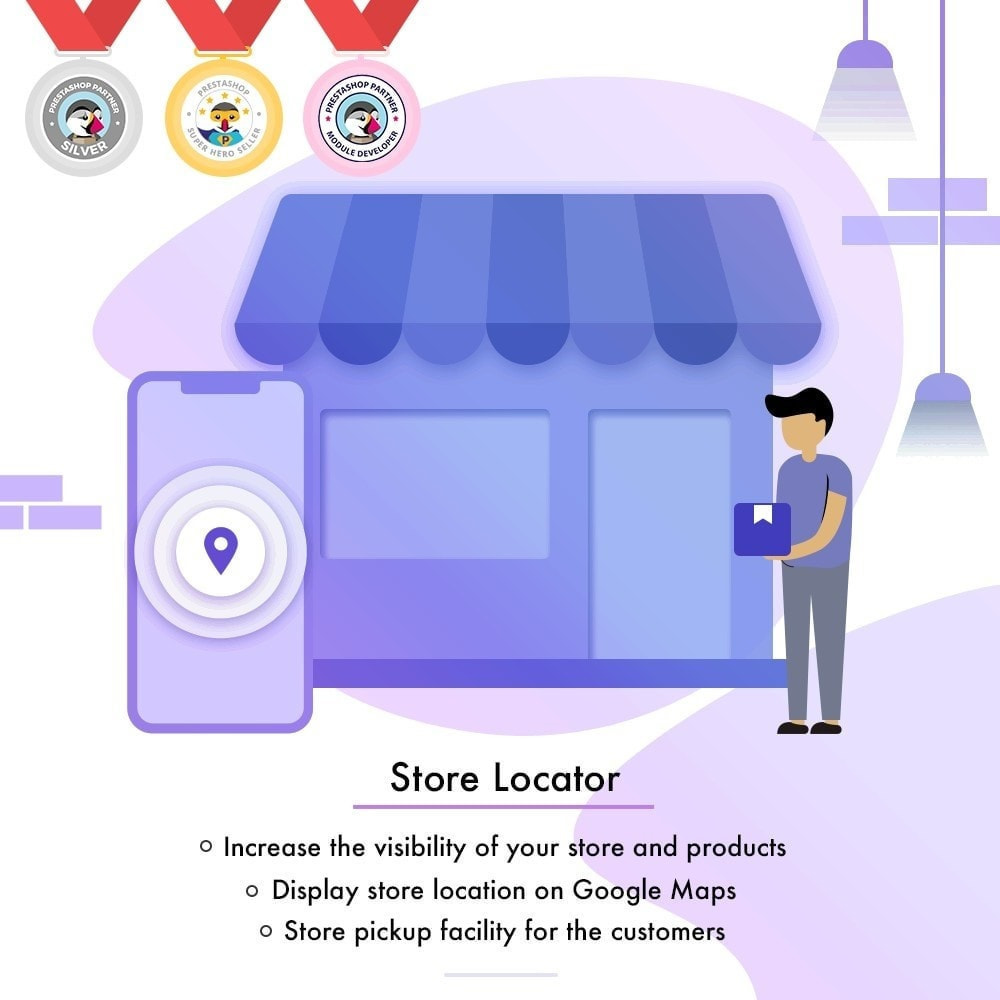 module - International & Localisation - Localisateur de magasin-Collecte de magasin,Google Map - 1