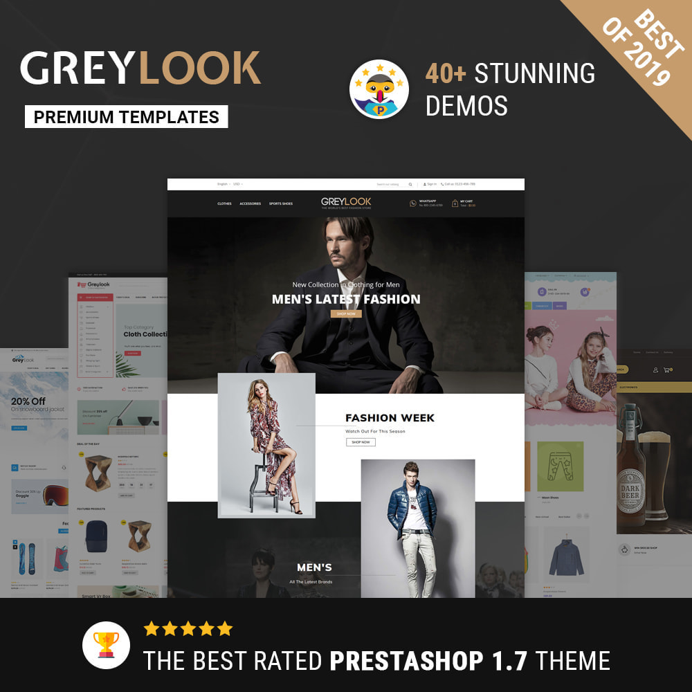 theme - Мода и обувь - Grey Look - Fashion Store - 1