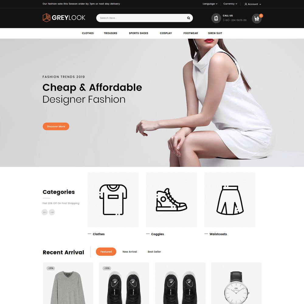 theme - Мода и обувь - Grey Look - Fashion Store - 15
