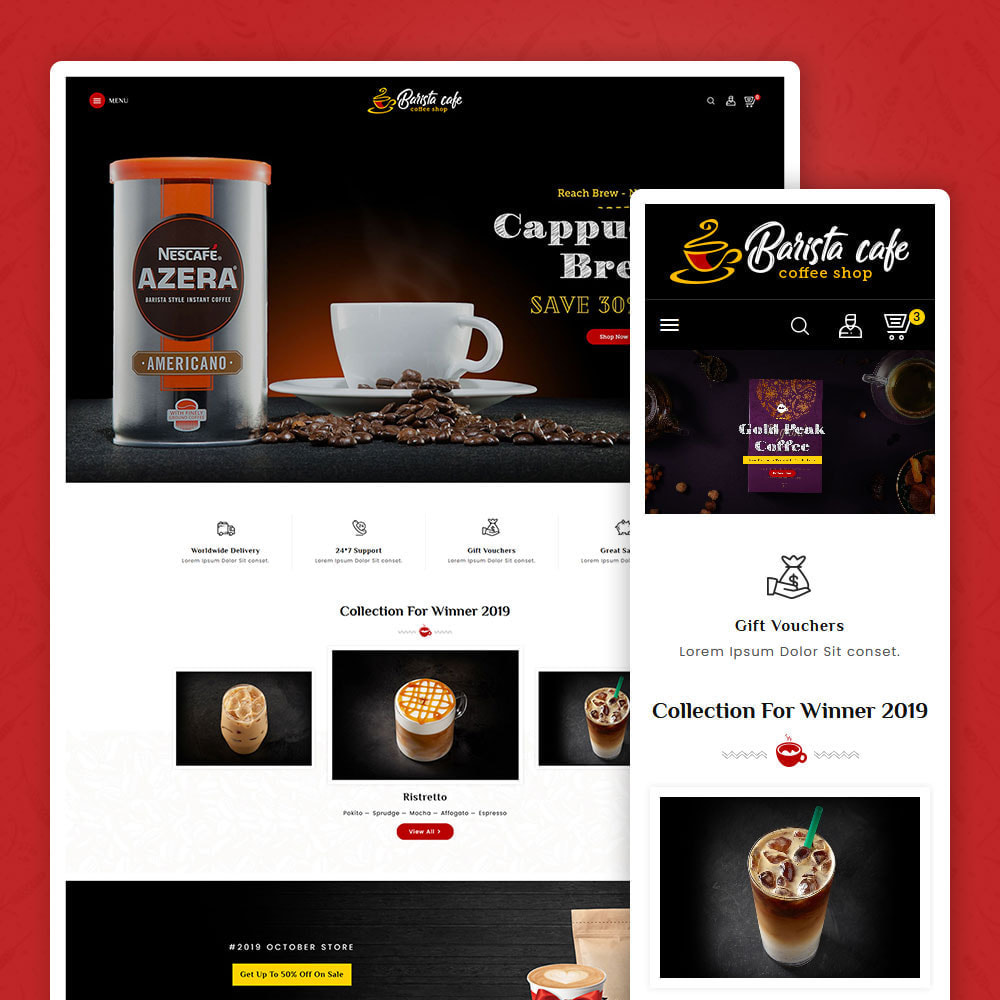 theme - Bebidas & Tabaco - Barista Cafe - Coffee & Drinks - 1