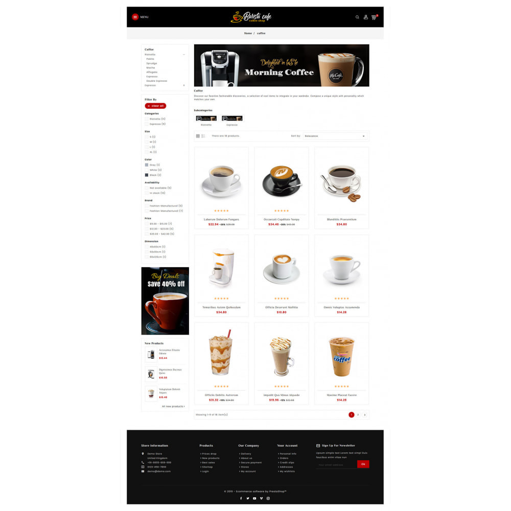 theme - Bebidas & Tabaco - Barista Cafe - Coffee & Drinks - 3