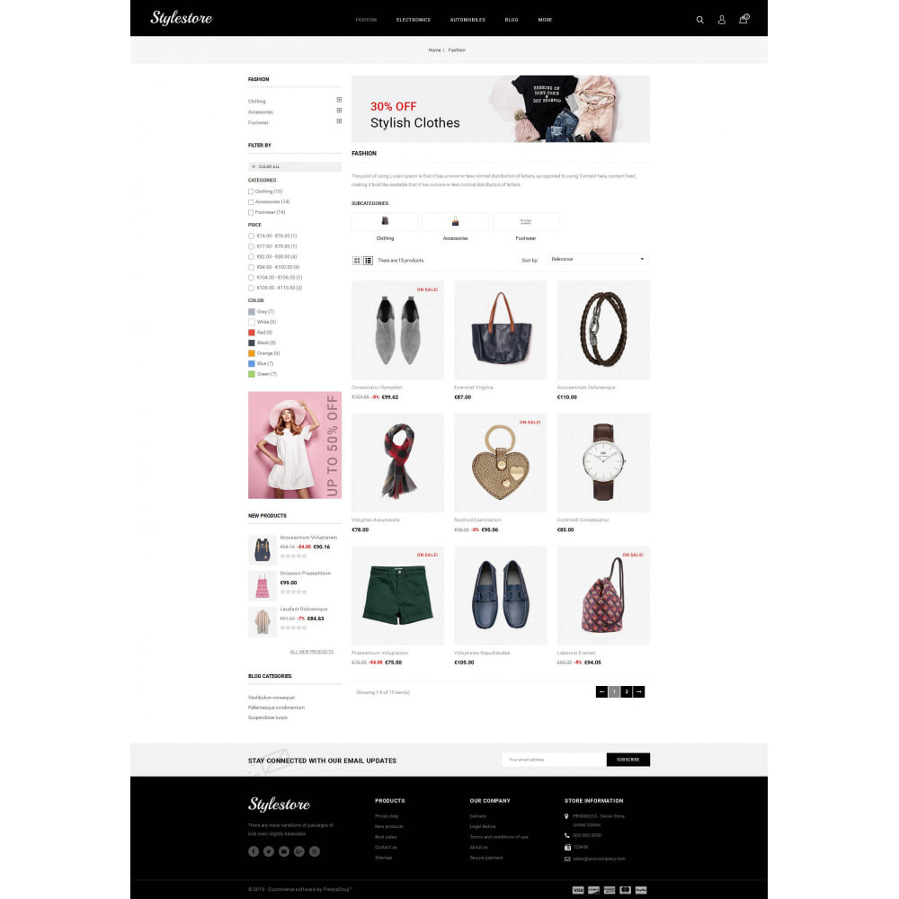 theme - Fashion & Shoes - Unique Style Store - 3
