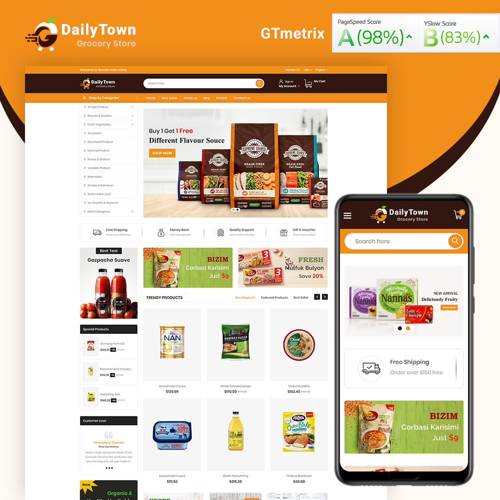 theme - Food & Restaurant - Daily Town Grocery Store - 1