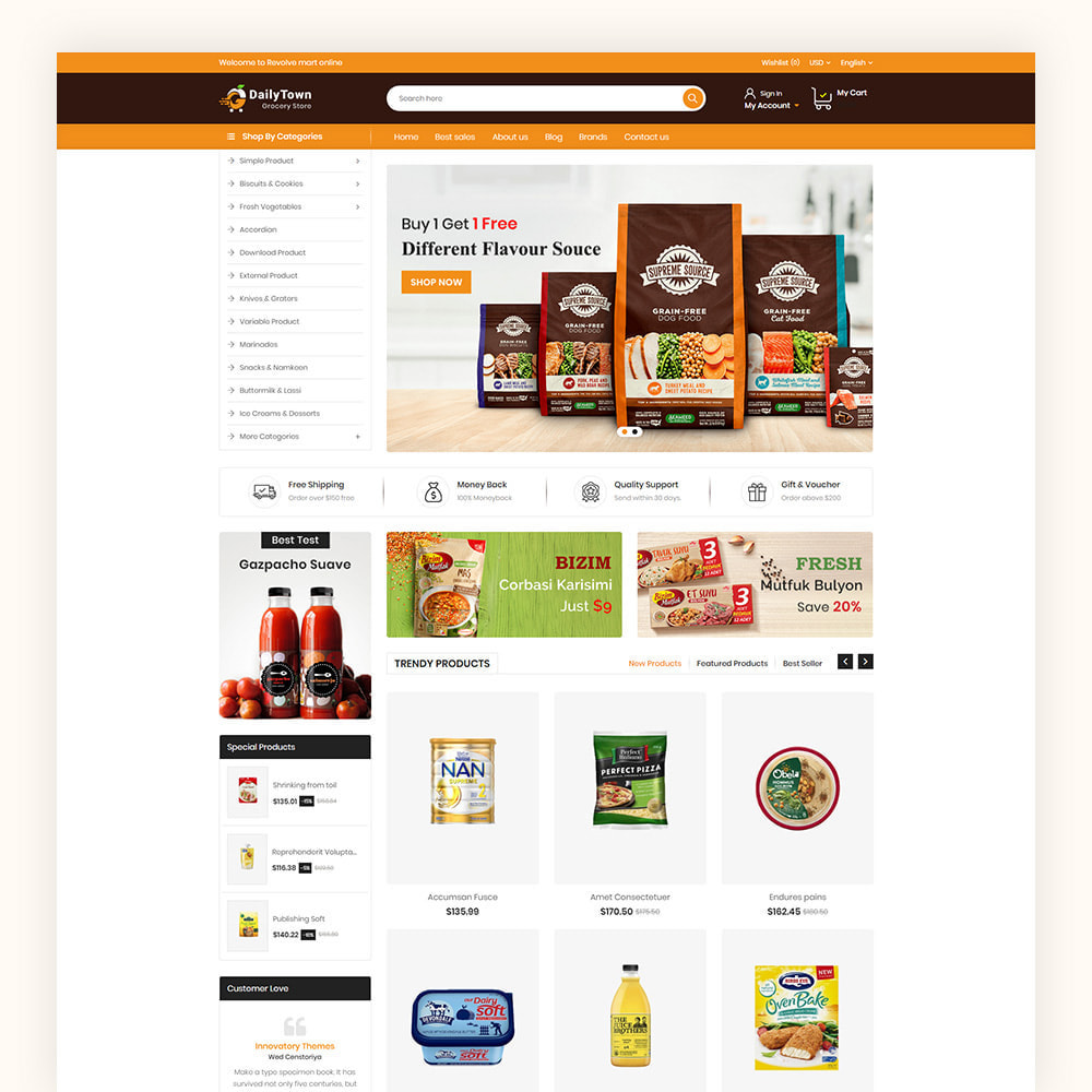 theme - Food & Restaurant - Daily Town Grocery Store - 2