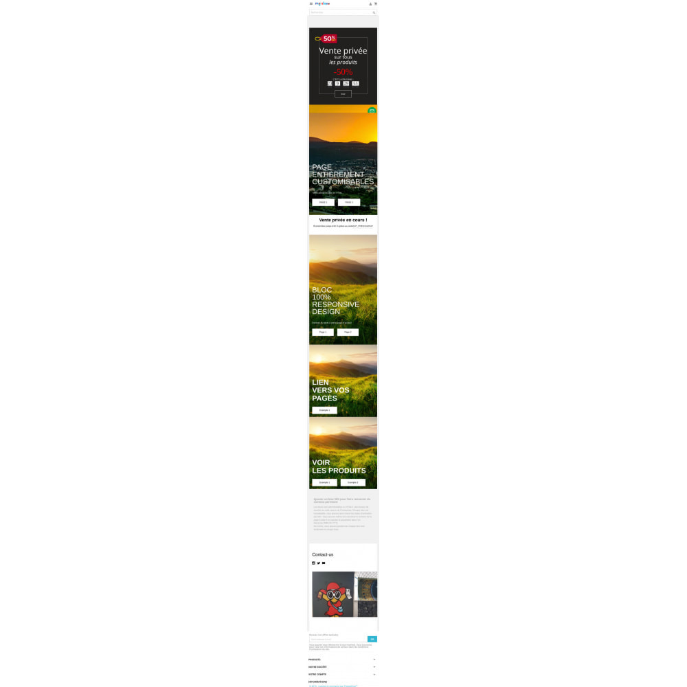 module - Personalizacja strony - Theme HTML blocks - home page - 3