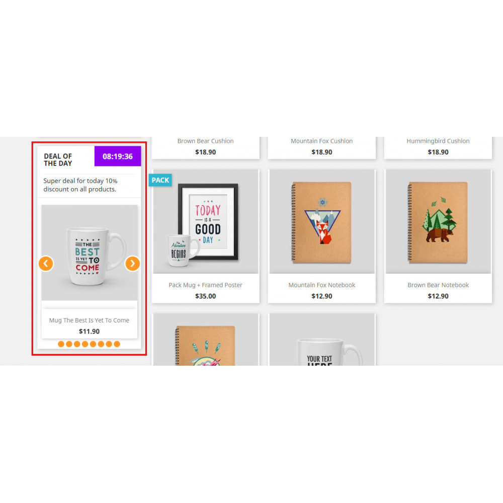 module - Sliders y Galerías de imágenes - Daily Deals Widget | Upcoming Deals | Super Sale - 9