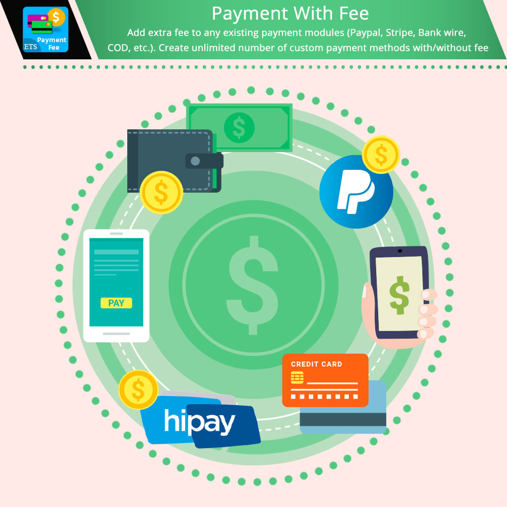 module - Otros métodos de pago - Payment With Fee: Paypal, Stripe, COD, bank wire, etc. - 1