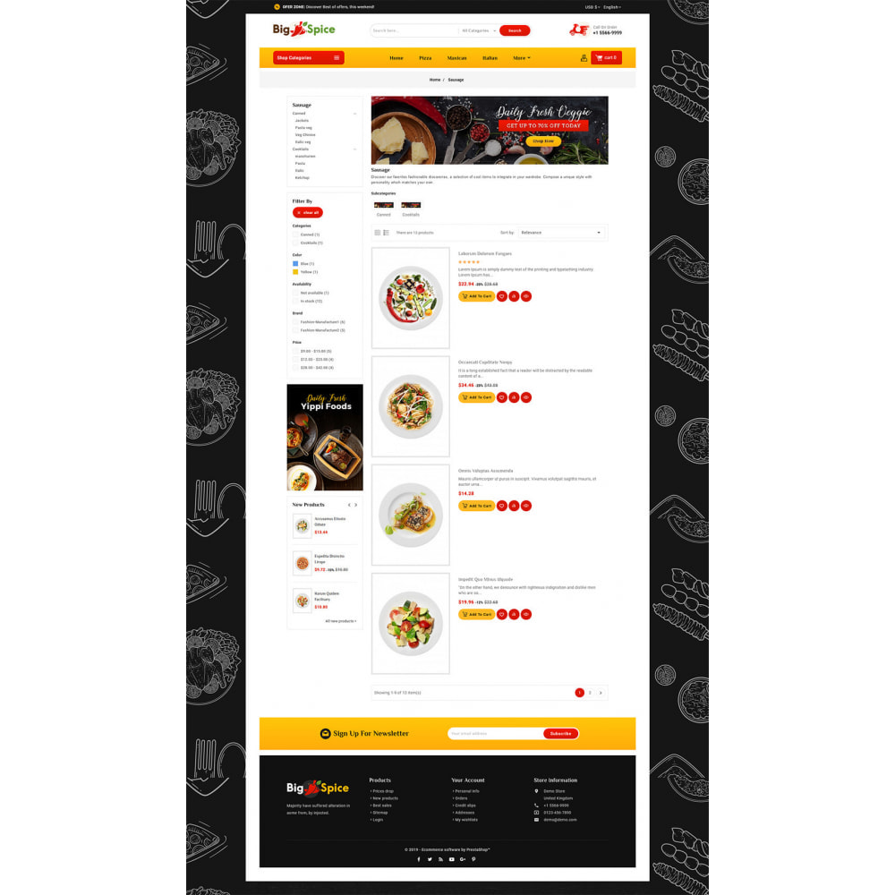theme - Alimentation & Restauration - Big Spice - Fast Food & Dishes - 4