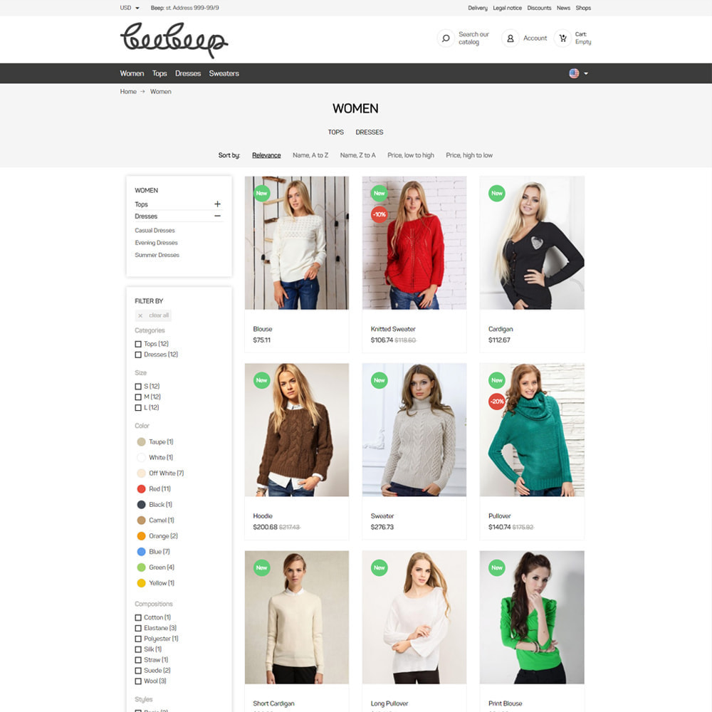 theme - Mode & Schoenen - Beep Clothes Store - 4