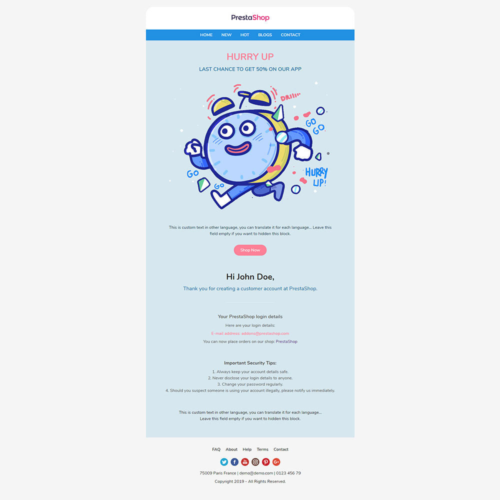 email - Template di e-mail PrestaShop - One for All - Template emails and for emails of modules - 9